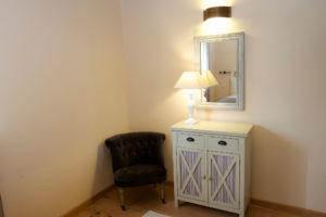Dettaglio camera loft appartamento Rosamrino